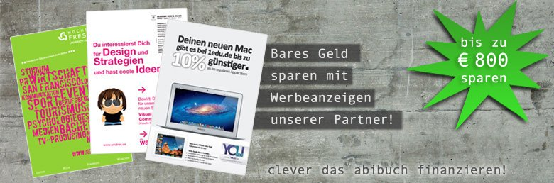 Werbung im Abibuch